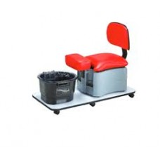 Pibbs 2036 Pedicure Ride On Trolley With Backrest & Footbath Optional