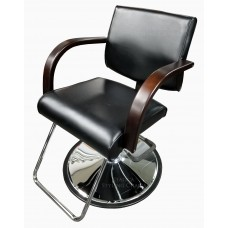 Italica 6366DW Katy Styling Chair Dark Wood Arms Your Choice Styling Chair Base