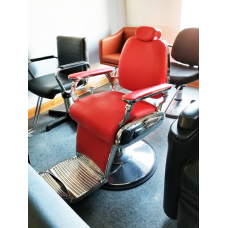 SHOWROOM CLEARANCE SALE- Jeffco Red Barber Chair Showroom Model New Sold AS IS
