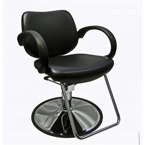 Italica 6651 Davy Styling Chair Hard Rubber Armrests With Base Choice
