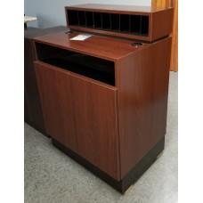Showroom Model Collins 490-30 Reve Concierge Desk Shaker Cherry New