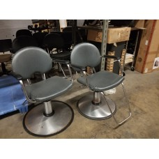 $100.00 Each Good Quality Belvedere Used Arch Styling Chairs Grey