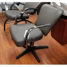 Chromium Lever Control Shampoo Chairs Top Grade Espresso Brown Thick Durable Arms Wide Thick Cushions