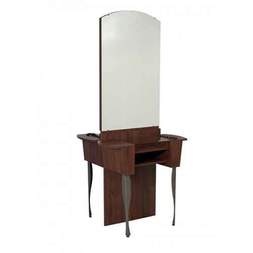 Showroom Brandi Styling Island From Belvedere Includes Mirrors and Glass Shelves