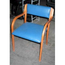 1 PC Great real wood frame waiting chair