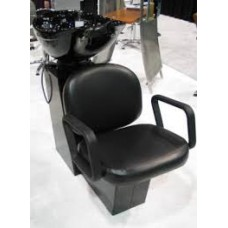 Pibbs 5225 Shampoo Backwash System With Deep Porcelain Shampoo Bowl