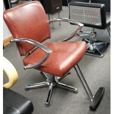 CLEARANCE Chromius 6265 Special Order Styling Chairs Rust Brown Leather Like Vinyl NEW!