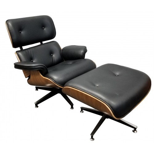 S-Eames Style Chairs with Footrest New Boxed