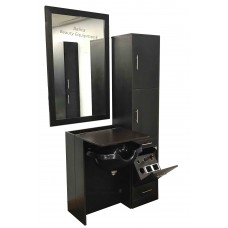 3 Pieces CS21 Shampoo Cabinet, 6066 Styling Station & Shampoo Bowl
