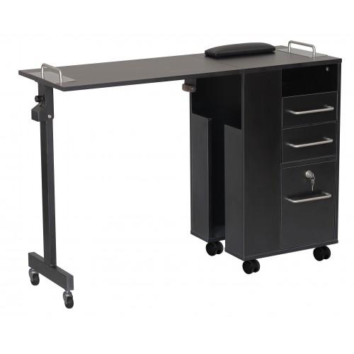 Italica Folding Portable Exceptional Quality Manicure Table Black Italica 2714