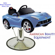Blue F12 Ferrari Kids Styling Chair Sports Car With Oversized Base