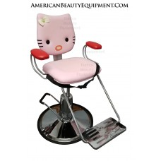 Pink Kitty 2 Hot Pink Hair Styling Chair For Kids