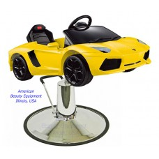 Yellow Lamborghini Kids Styling Chair Sports Car