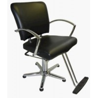 6267N Tiberius Wide Hair Styling Chair From Italica Choice Base Plus Footrest