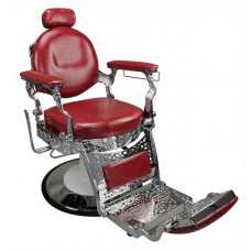 Italica 31913 Old Fashioned Red Quality Barber Chair With Barber Base