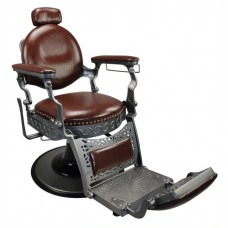 Italica 31915 Old Fashioned Brown Barber Chair With Barber Base
