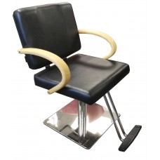 Italica B032 Contempo Styling Chair Wide Seat, Light Wood Arms