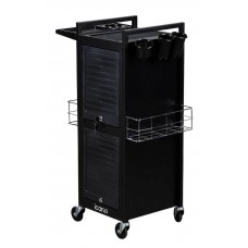 Italica 301 Locking Steel Frame Hair Salon Trolley With Tool Holders