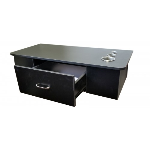 Italica 8804 Black Wall Mounted Hair Styling Station