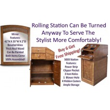 5003 Rolling Hair Station & Free Mirror Deal BUY 6 Get Free Shipping