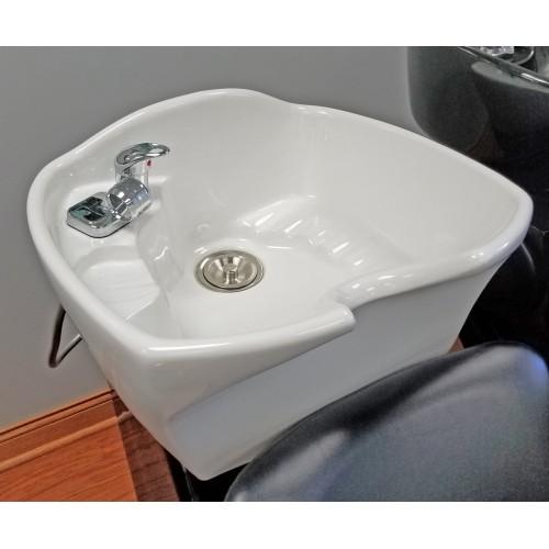 Italica 6267S Tiberius Sidewash or Backwash Shampoo Unit With Lever Control Footrest