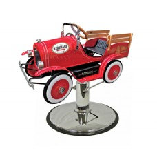 Red Jalopy Kids Classic Styling Chair Car All Metal Very Durable With Your Choice of Base