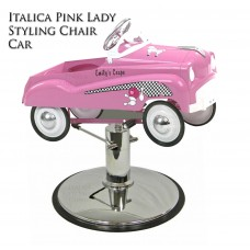 Girls Pink Durable Metal Styling Chair Car For Girls Hair Cuts In Hair Salons