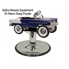 55 RetroPurple Metal Children's Hair Styling Chair Your Choice of Base