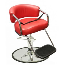 Italica K63 Red Brianna Kids Hair Styling Chair With Thick Cushions with your Choice Base