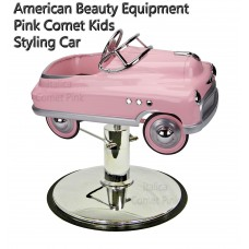 Comet Pink Styling Chair Car With Your Choice of Base