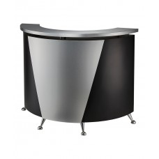 Pibbs 5031 Black Reception Desk With Curved Front