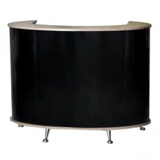Pibbs 5056 Curved Front Small Reception Desk Black