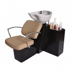 Pibbs 5237W Pisa Shampoo Side or Backwash Sliding Chair Tilting Shampoo Bowl