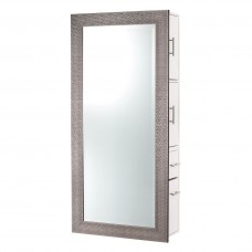 PIbbs Diamond Styling Station With Mirror Wall Mount Unit