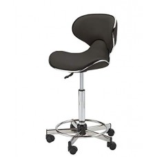 745 Butterfly Hair Cutting Stool With Backrest from Pibbs 23 to 33 Inch Lift Black Only