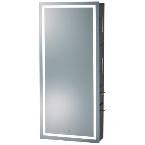 PIbbs 9110 Wall Mounted Lumina LED Mirror With Cabinet