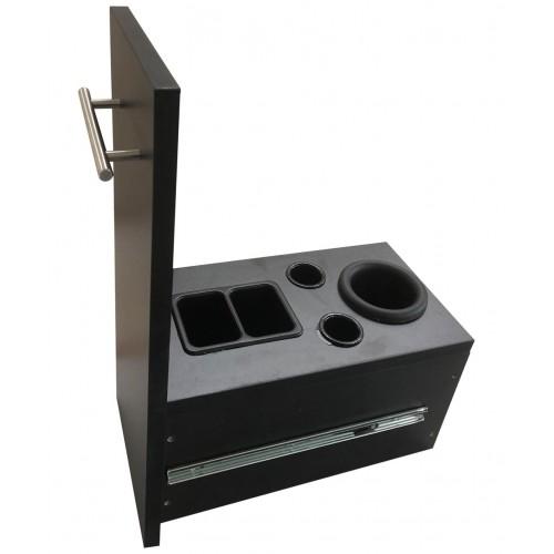 PIbbs SER02 Diamond Styling Station With Mirror Wall Mount Unit