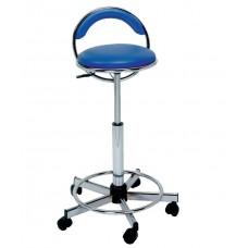 770 JOJO Ergonomic Seat Hair Cutting Stool With Back & Footrest