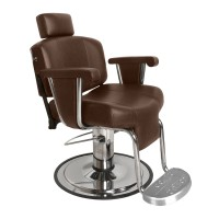 Collins 9010 Continental Barber Chair With Stationary Footrest