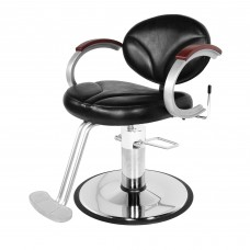 Collins 9110 Reclining Silhouette Hair Styling Chair Wood Capped Arms