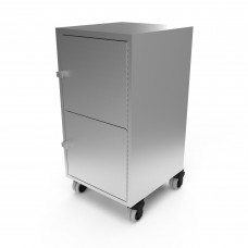 Veeco 2104-18 Stainless Steel Portable Beauty Cart 2 Doors