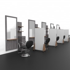 Partition Protective Black or White Laminated Wall Basic Panel