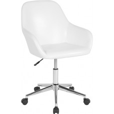 8012 Task Or Client Chair; Mid-Back Chair in Black Or White Leather