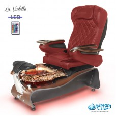 La Violette Pipeless Glass Bowl Pedicure Spa With Magnetic Jet and Shiatsu Massage Chair Many Colors To Choose