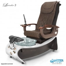 Lavender 3 Pipeless Pedicure Spa With Glass Bowl Magnetic Jet and Shiatsu Massage Chair Top by Gulfstream