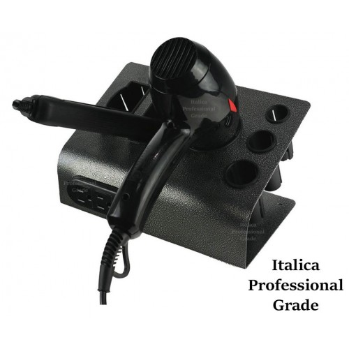 Italica 009S Table Top Hair Styling Tool Multi Holder With UL Electrical Outlet