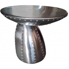 Aluminum Table 24 Inch Diameter Riveted Clearance