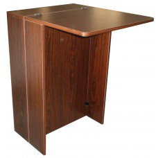 Italica CS11 Lift Lid Shampoo Bowl Cabinet Walnut Color