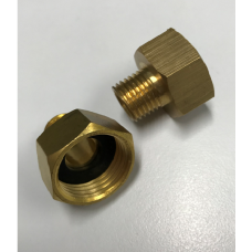 "1/2"" to 1/4"" Shampoo Water Line Faucet Adapter"