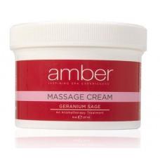 Massage Cream 8 oz. Geranium Sage #531-GS